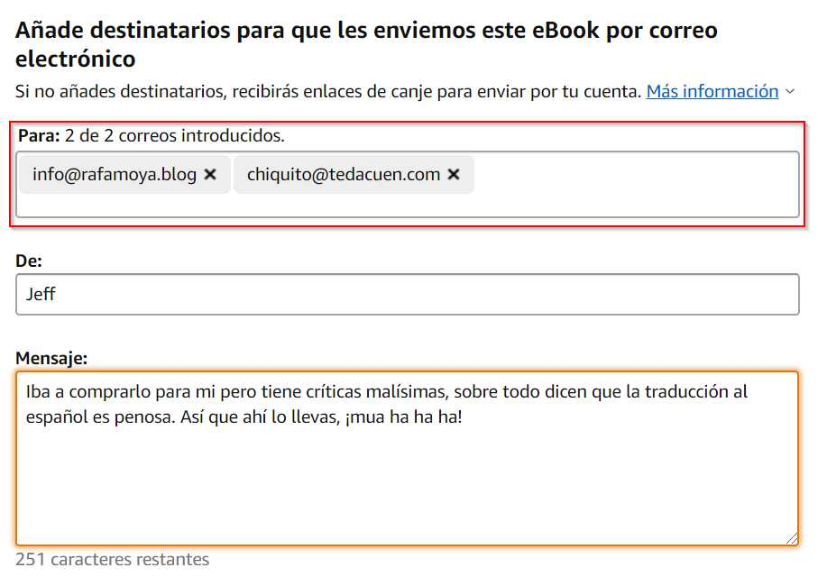 Cómo regalar un libro Kindle 3