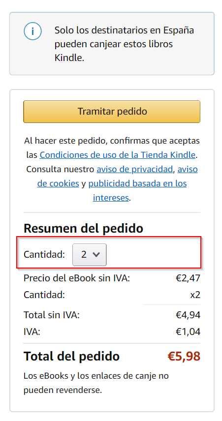 Cómo regalar un libro Kindle 4