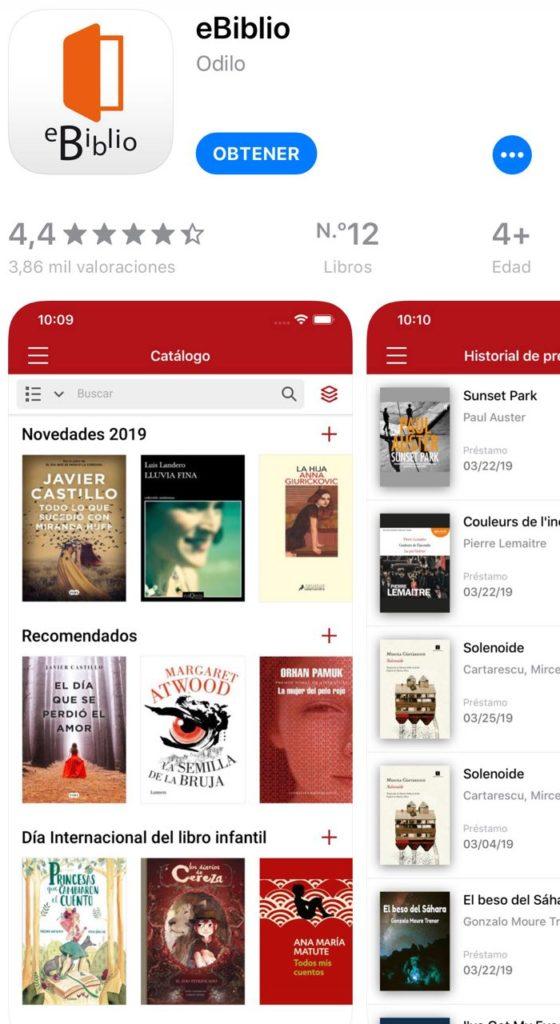 ebiblio app para iOS iPhone
