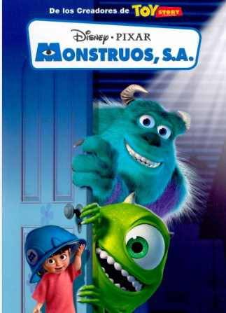 monsters inc, monstruos s.a. ebiblio catalogo película disney pixar